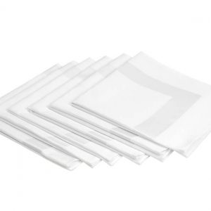 8351 Satin Band Napkin, 50% Polyester 50% Cotton