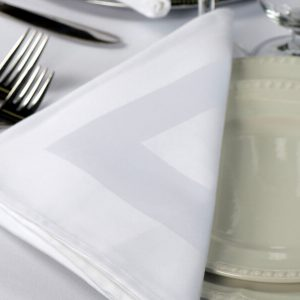 8375 Satin Band Napkin, 100% Cotton